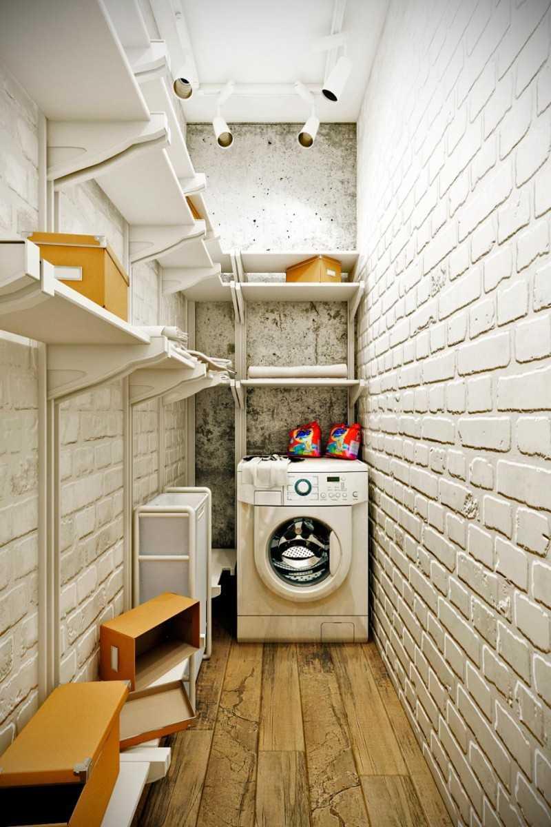 Фото кладовой со стиральной машиной
