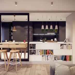 Как оформить кухню студию — 95 фото примеров планировки и зонирования с использованием стильного дизайна